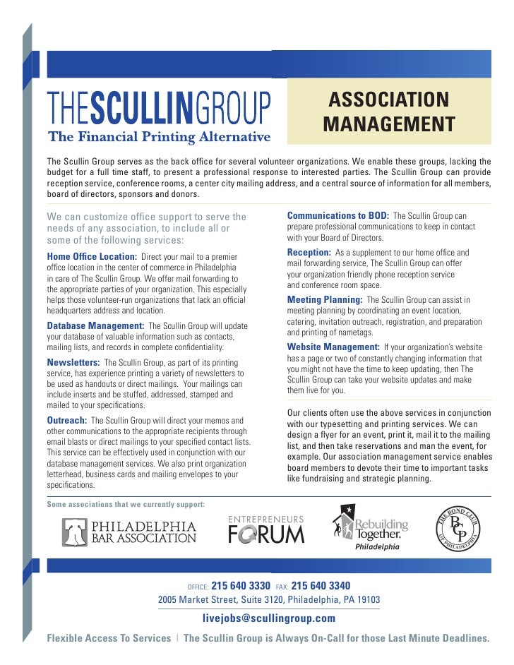 AssociAtion                                                                                  MAnAgeMentThe Scullin Group s...