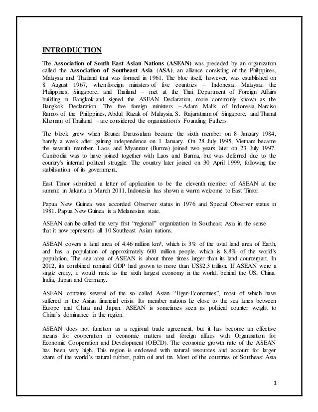 Association of southeast asian nations asean 1 introduction the association of south east asian nations asean was preceded by an stopboris Gallery