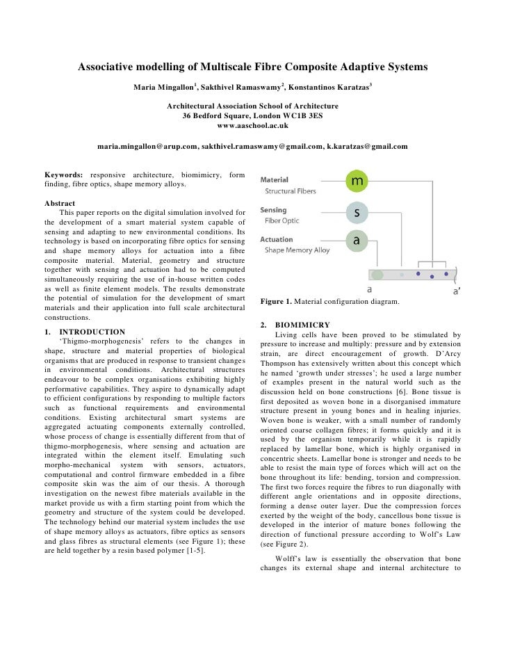Associative modelling of Multiscale Fibre Composite Adaptive Systems                            Maria Mingallon1, Sakthive...