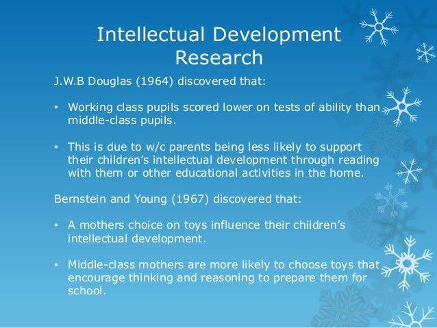 what is meant by intellectual development
