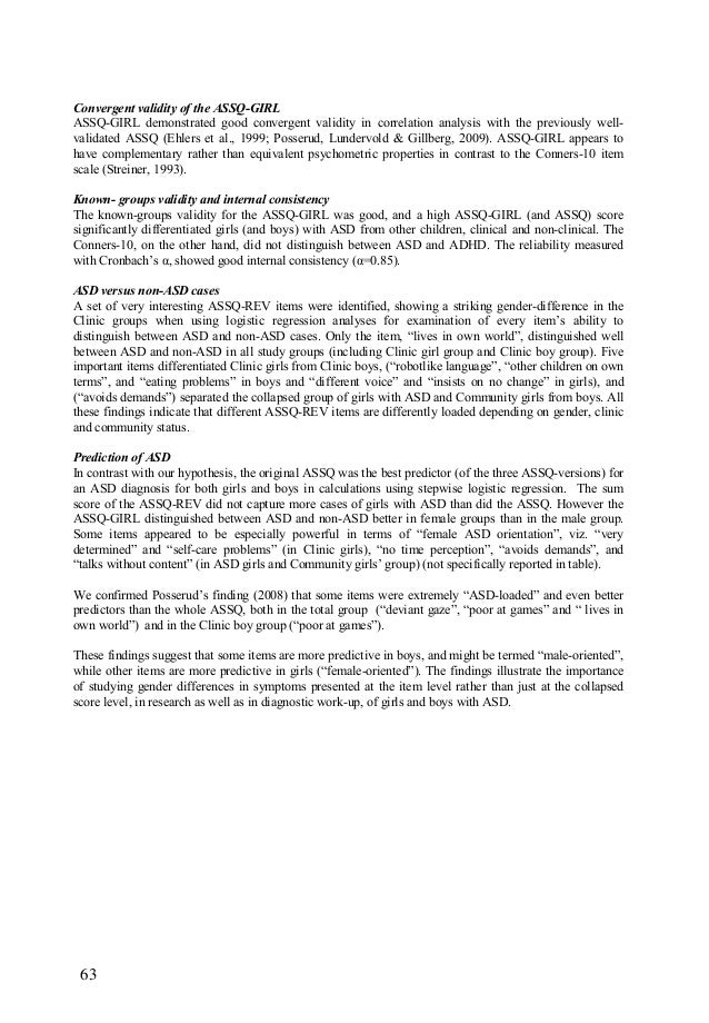 GIRLS WITH SOCIAL AND/OR ATTENTION IMPAIRMENTS - ASSQ GIRLS - KOPP-2010