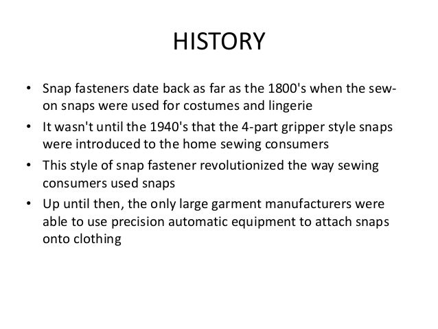 ASSQC on snap fasteners and buttons