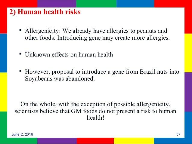 the consequences of genetically modified foods Genetically modified foods, gm foods or genetically engineered foods, are foods produced from organisms that have had changes introduced into their dna using the.