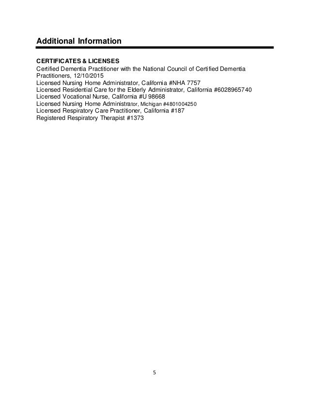 Asst Living Admin In Training Resume 1 9 17