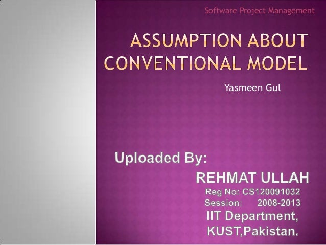 Software Project Management    Yasmeen Gul