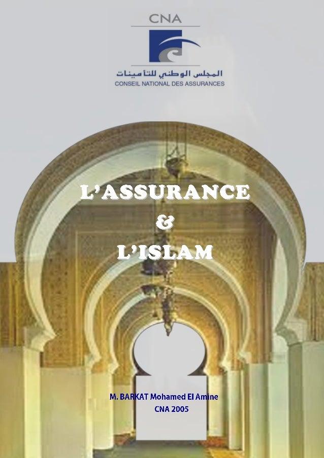 CNA- contribution de Barkat à la JE Assurances & Islam - 1 / 18 Assurance et Islam Contribution à la conférence – table ro...