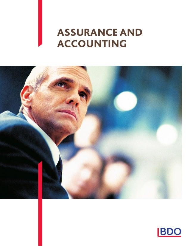 ASSURANCE AND ACCOUNTING
