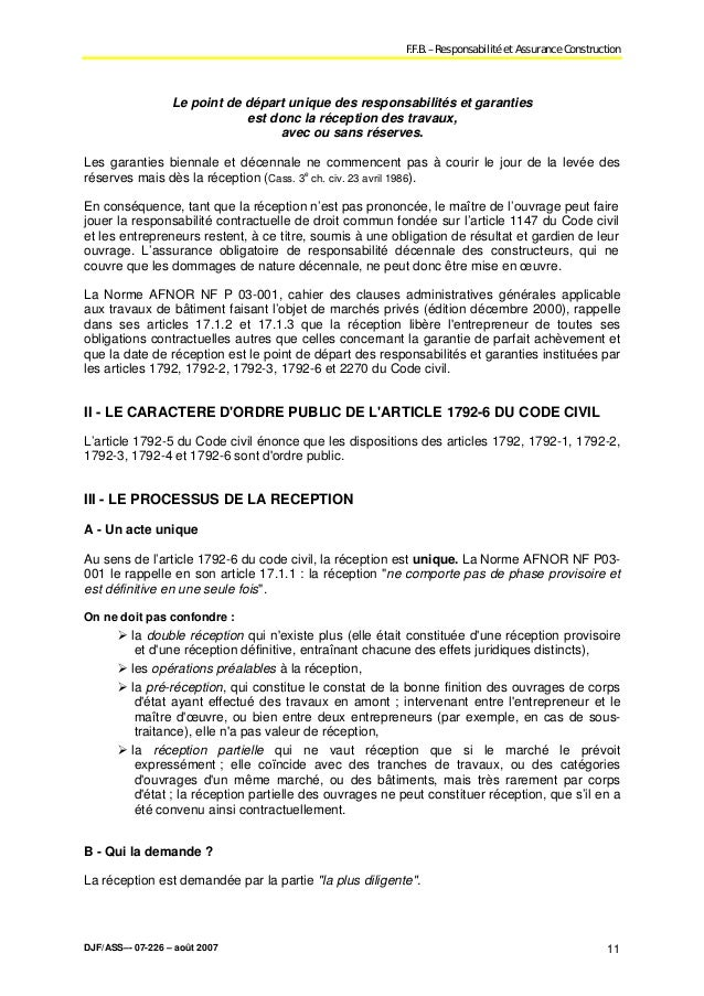 Assurance construction ouvrage ffb - Delai restitution caution ...