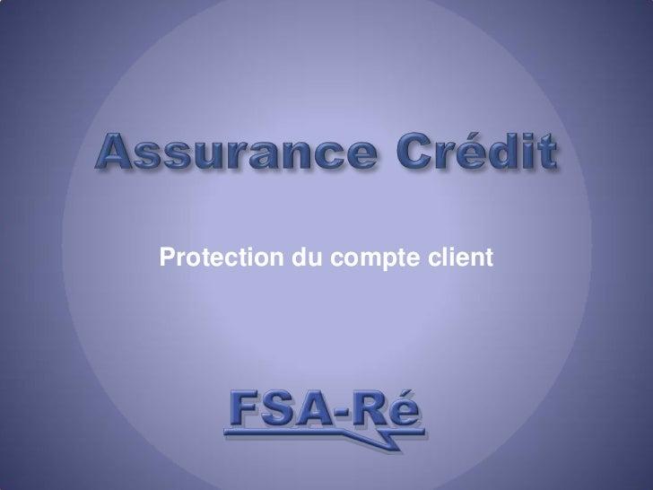 Assurance Crédit<br />Protection du compte client<br />