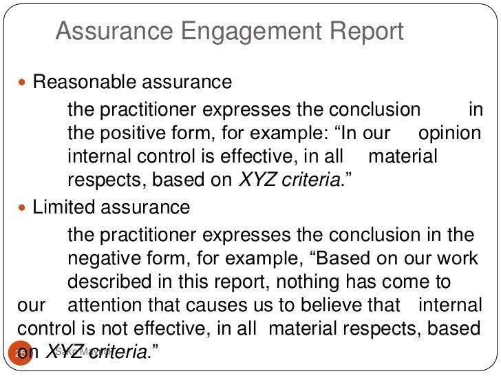 assurance engagement  prospective financial information