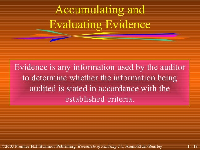 auditing is the accumulation and evaluation of evidence accounting essay Free essays from bartleby | financial systems and auditing: contributing to the   audit is, therefore, an examination of accounting records undertaken with a   auditing is the accumulation and evaluation of evidence about information to.