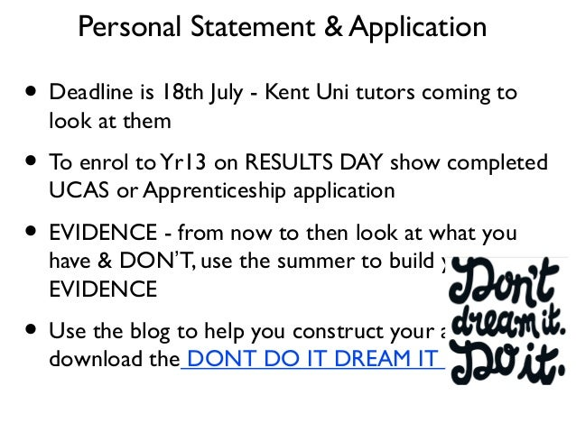 personal statement for apprenticeship