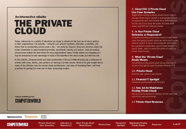 2. Cloud CIO: 3 Private Cloud                                                                                             ...