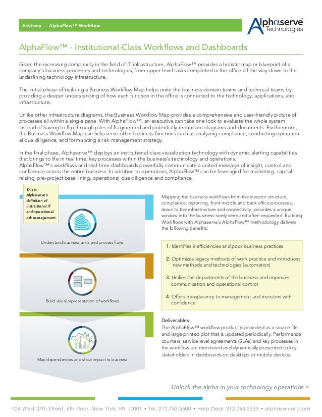 Alphaserve technologies alphaflow brochure unlock the alpha in your technology operations given the increasing complexity in the field of malvernweather
