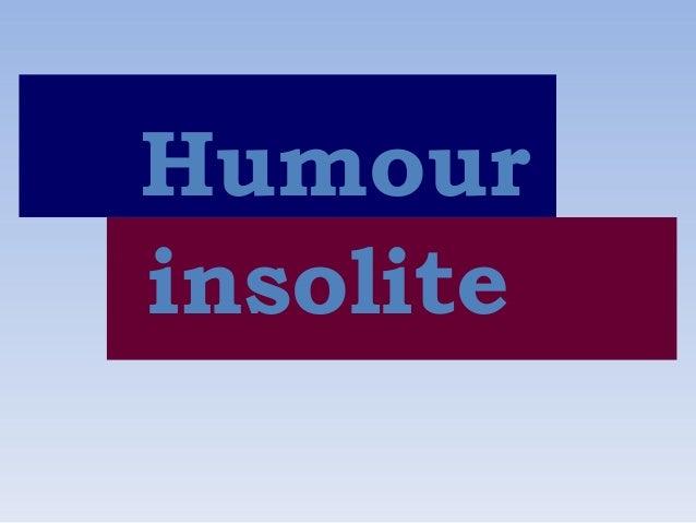Humour insolite