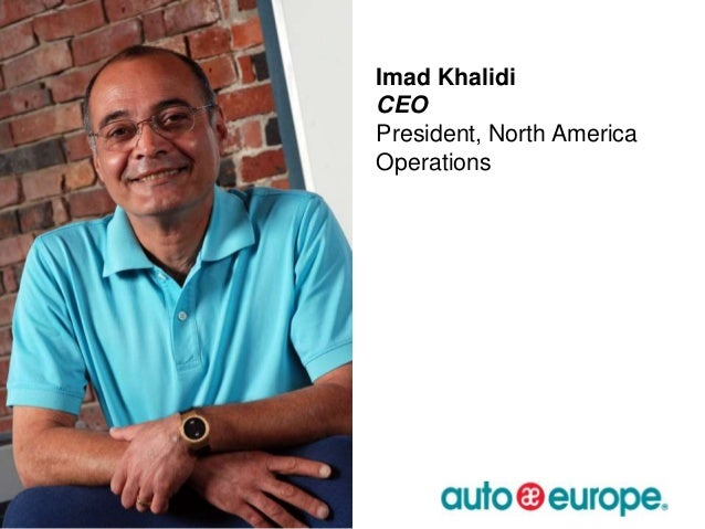 Imad Khalidi CEO President, North America Operations  10/15/2013