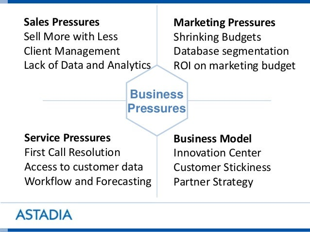 Sales Pressures Sell More with Less Client Management Lack of Data and Analytics Marketing Pressures Shrinking Budgets Dat...