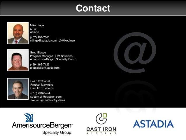 Contact @ Mike Lingo CTO Astadia (407) 409-7000 mlingo@astadia.com   @MikeLingo Sean O'Connell Product Marketing Cast Iron...