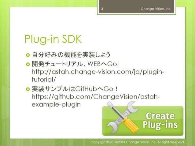 Astah Plug-ins 作ろう!試そう!プラグイン! Slide 3