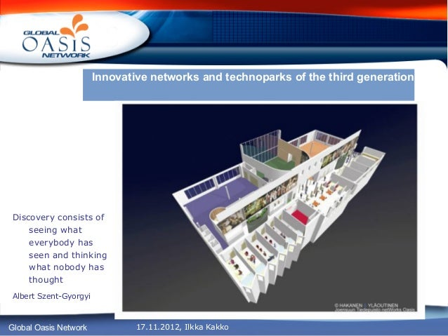 Innovative networks and technoparks of the third generationDiscovery consists of    seeing what    everybody has    seen a...