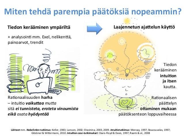 Miten  tehdä  parempia  päätöksiä  nopeammin?   Tiedon  kerääminen  ympäriltä   +  analysoin=  mm.  ...