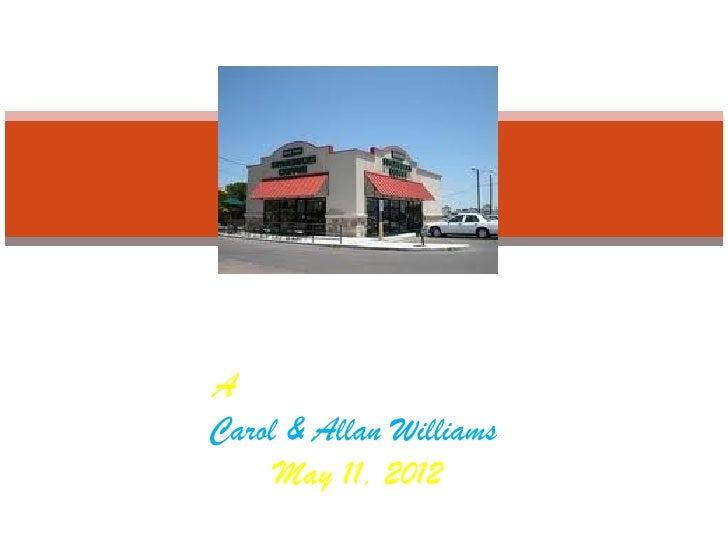 A `Starbucks Wedding'Carol & Allan Williams     May 11, 2012