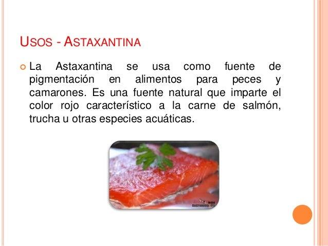 Astaxantina for Alimentos balanceados para truchas