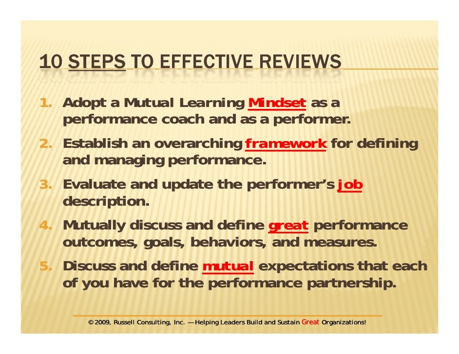 5. 10 STEPS TO EFFECTIVE REVIEWS P G ...