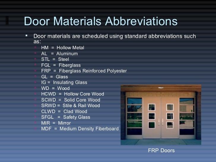 Door Type Schedule Amp Make Sure You Assign This Parameter