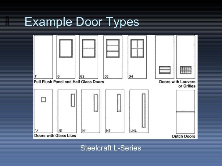 Ex&le Door Types Steelcraft L-Series ...