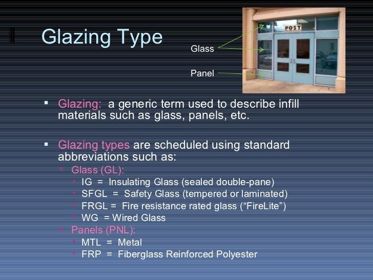Glazing ... & The Door u0026 Frame Schedule pezcame.com