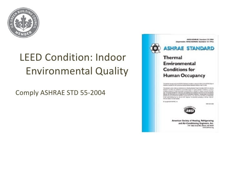 How cool roofing can provide leed credits for Indoor design conditions ashrae