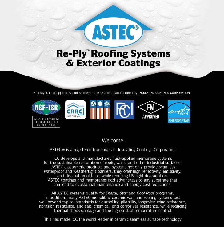Re-Ply™Roofing Systems   & Exterior Coatings