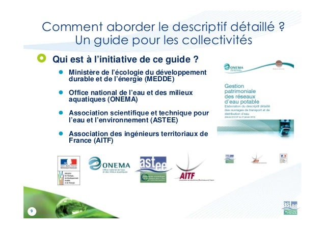 Gestion patrimoniale des r seaux d 39 eau potable - Office national de l electricite et de l eau potable ...