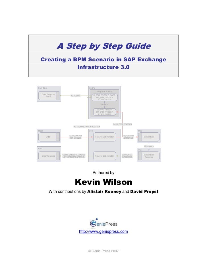 A Step by Step Guide   Creating a BPM Scenario in SAP Exchange               Infrastructure 3.0Email Client               ...