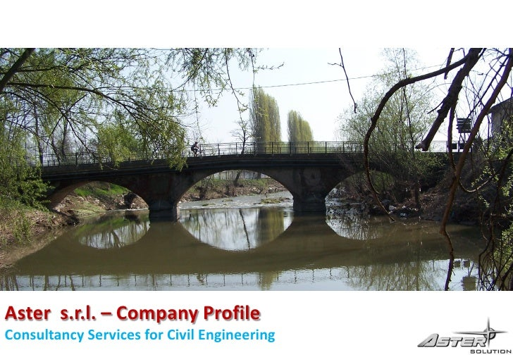 Aster s.r.l. – Company Profile Consultancy Services for Civil Engineering