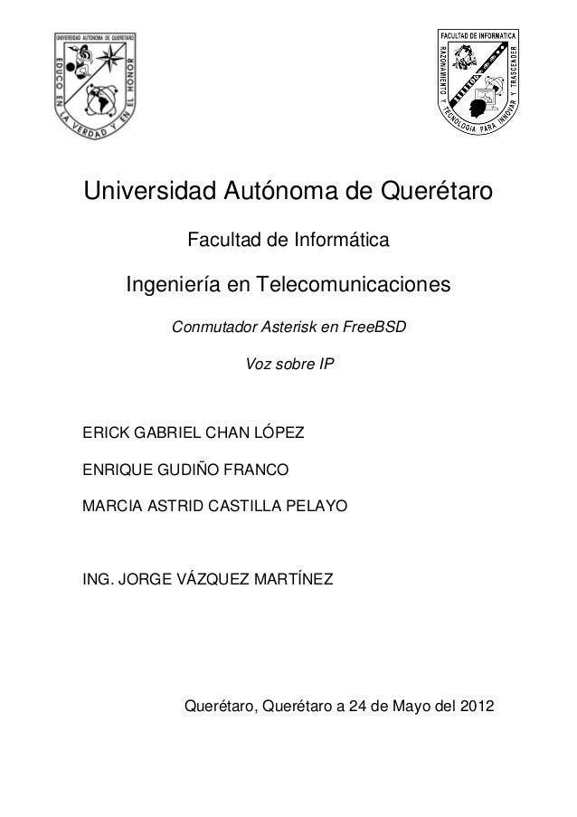 Universidad Autónoma de Querétaro           Facultad de Informática    Ingeniería en Telecomunicaciones         Conmutador...
