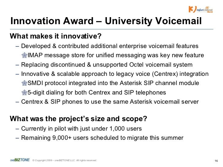 Asterisk world theater talk tlc 080319 16 innovation award university voicemail m4hsunfo Image collections