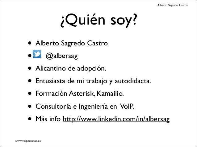 Domótica con Asterisk Voip2day 2013 Slide 2