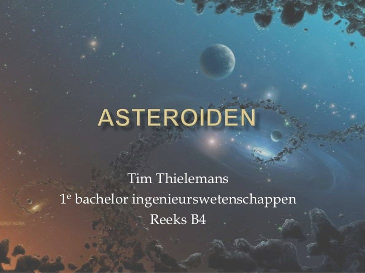 Tim Thielemans1e bachelor ingenieurswetenschappen               Reeks B4