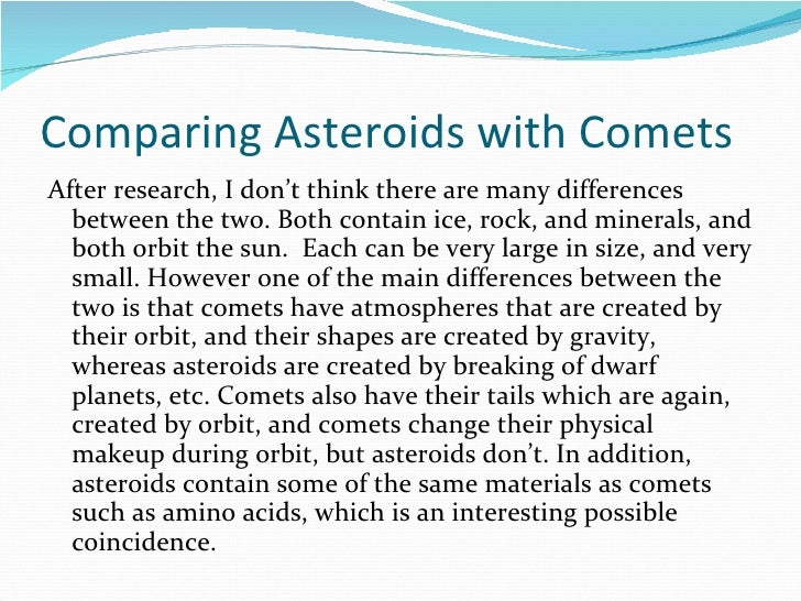 Comet vs Asteroid vs Meteor (page 3) - Pics about space