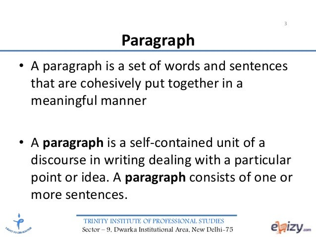 meaningful paragraphs