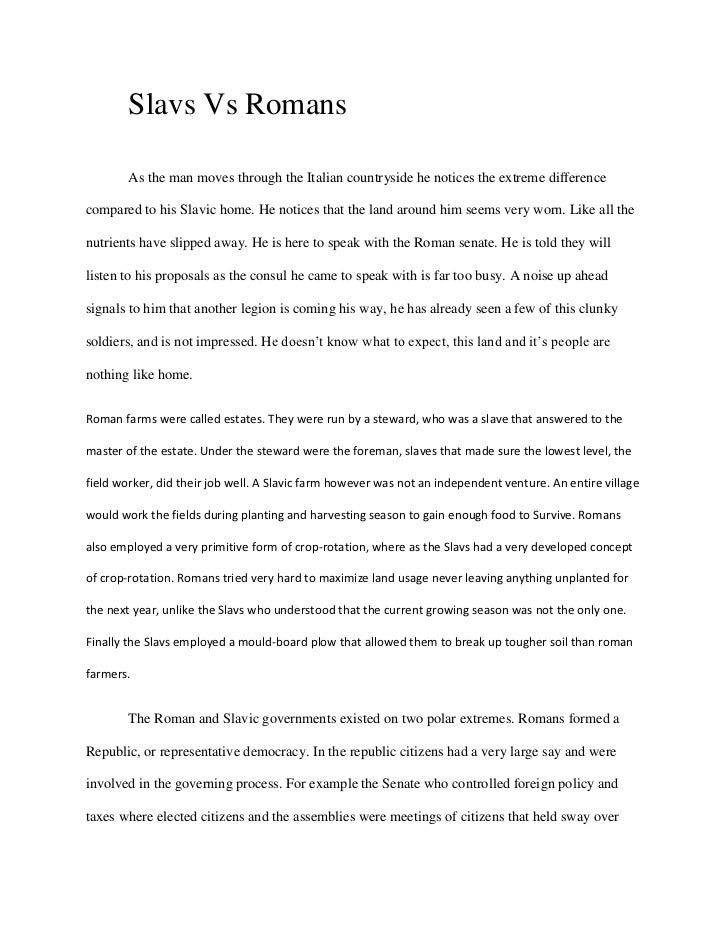 compare and contrast essay slavs vs romansas the man moves through the italian countryside he - Compare And Contrast Essays Examples