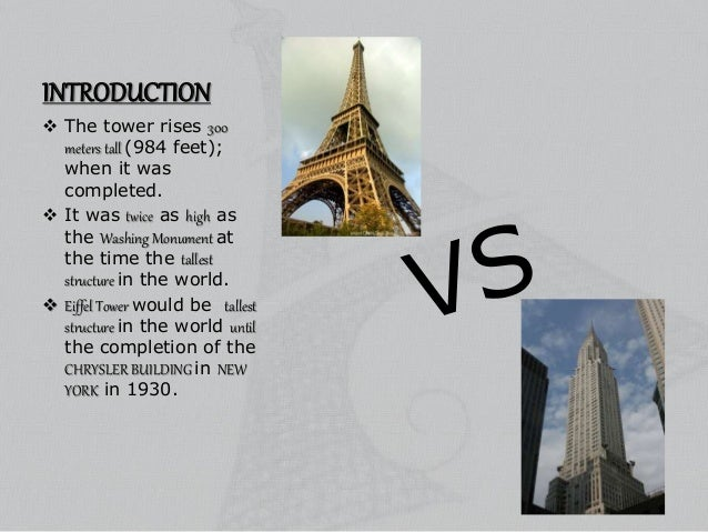 an introduction to the architecture of the eiffel tower The eiffel tower and gustave eiffel the eiffel tower (french: la tour eiffel) is an iron tower located on the champ de mars in paris it was named after the engineer gustave eiffel , whose company designed and built the tower.