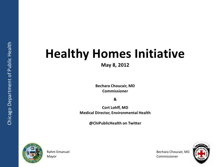 Chicago Department of Public Health                                      Healthy Homes Initiative                         ...
