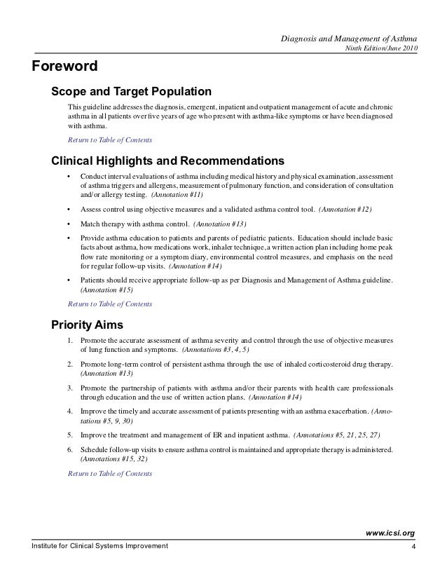 asthma diagnosis and assessment guideline