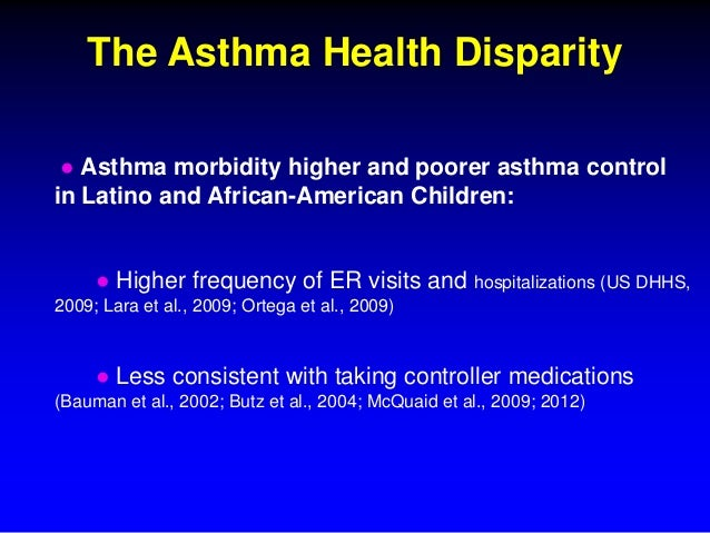 an overview of the issue of asthma in urban communities Living in poverty can have a devastating effect on health ucsf is actively developing programs and studies to help circumvent the toxic effects of economic disparity.