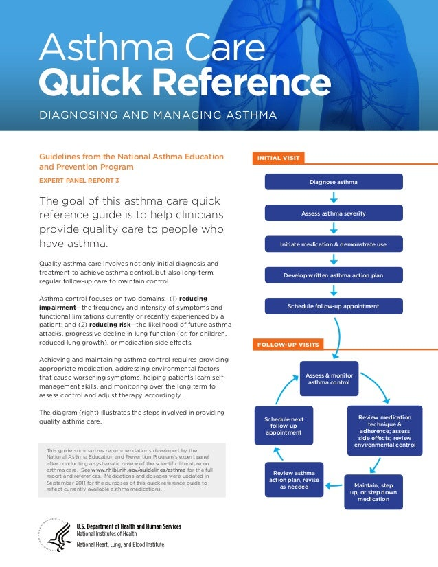 Asthma Care Quick Reference DIAGNOSING AND MANAGING ASTHMA  Guidelines from the National Asthma Education and Prevention P...