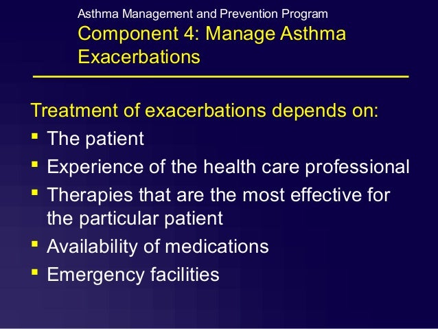 acute exacerbation of bronchial asthma aeba case study In a serologically based prospective study, acute infections with four atypical pathogens were determined in 100 adults hospitalized for acute exacerbation of bronchial asthma, and compared with the corresponding rate in a matched control group.