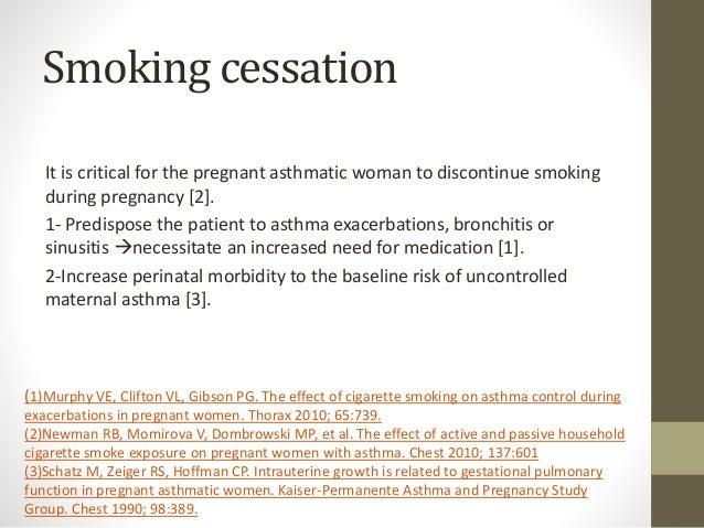 Asthma in pregnancy